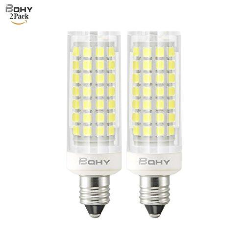 Bqhy 6W E11 Base LED Light Bulb Non-Dimmable 110V 120V E11 Mini candelabra LED 60W Equivalent E11 Halogen Replacemnt Daylight White 6000K (Pack of 2)