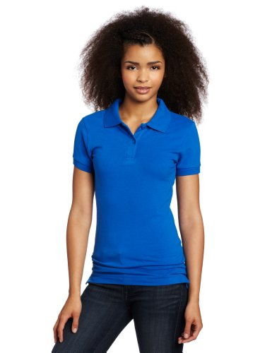 Lee Uniforms Juniors Stretch Pique Polo, Royal Blue, Small