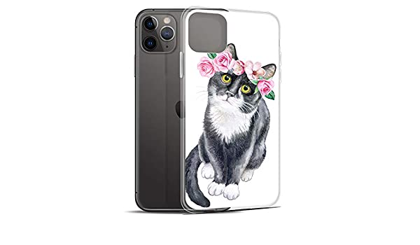Compatible for iPhone 11 Pro Max 2020 Happy New Year of The Rat Flowers Mouse Lover Anti Bumps Scratches