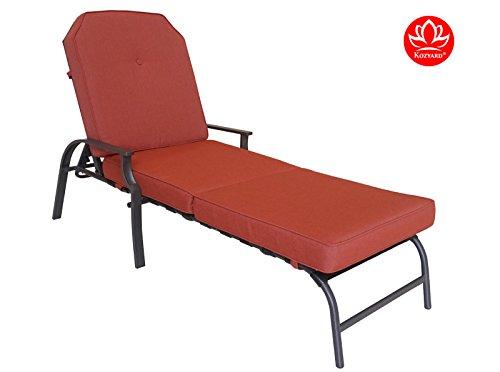 Kozyard Maya Outdoor Chaise Lounge Weather Amp Rust