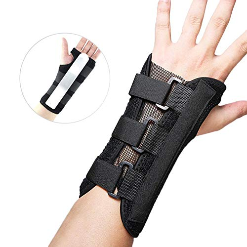Topaty Unisex Steel Plate Support Wrist Brace Steel Fixed Ventilation with Removable Splint Steel Plate and Adjustable Wraps for Fracture Sprain Plate