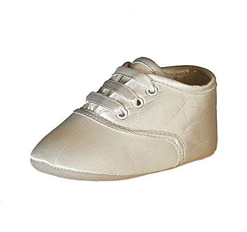 Heritage Gideon Jungen Taufe Schuhe, 0bis 3Monate, Seide
