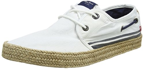 Pepe Jeans London Herren Sailor Deck Cruise Espadrilles Weiß (White)