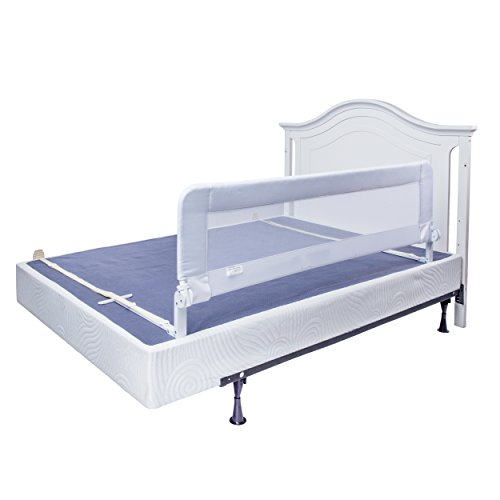 Bed Rails for Toddlers - Extra Long Toddler Bed Rail Guard for Kids Twin, Double, Full Size Queen & King Mattress - Baby Bedrail for Children (White XL)