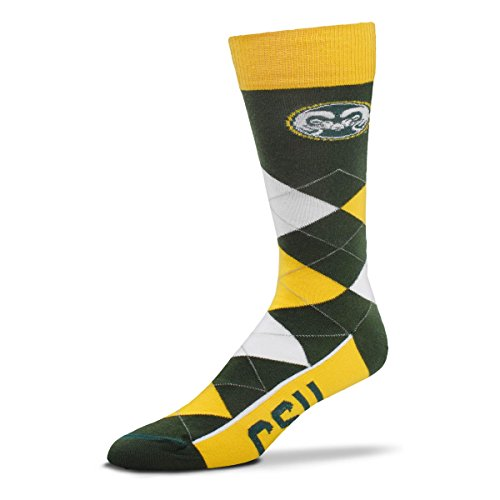 - For Bare Feet NCAA Argyle Lineup Crew Socks (Colorado State Rams, One Size Fits Most)