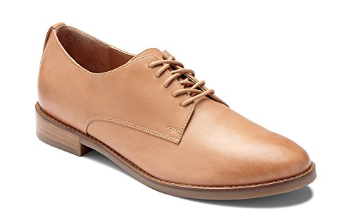 (Vionic Women's Wise Weslyn Oxford - Ladies Oxfords with Concealed Orthotic Support Tan 8 M US)