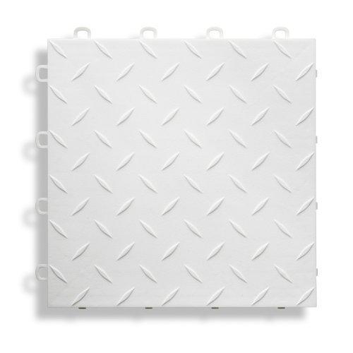 BlockTile B1US4127 Garage Flooring Interlocking Tiles Diamond Top Pack, White, 27-Pack by Gulfcoast Ard, Inc