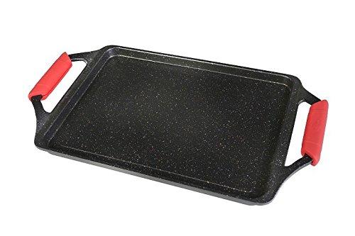 WeCook Ecochef 10701, Plancha de Asar Antiadherente, Inducción, Vitrocerámica, Fogón, 43 x 25 cm Aluminio y Piedra Libre de BPA: Amazon.es: Hogar