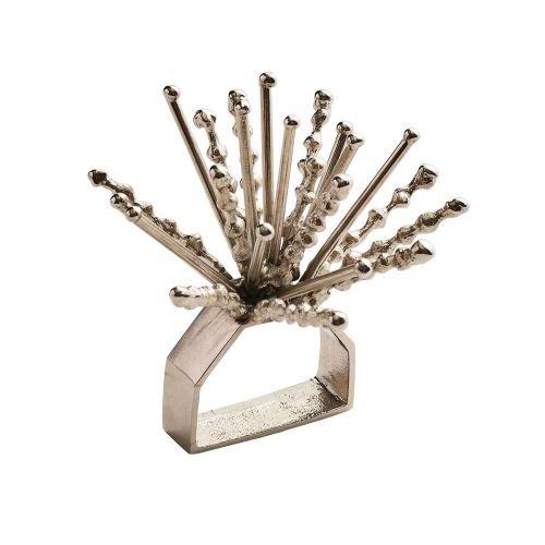 Kim Seybert Set Of 4 Nova Napkin Ring In Silver