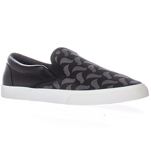 bucketfeet Carrie Van Hise Birds Slip-on Fashion Sneakers – Black, 10 M US / 41 EU
