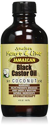 Jamaican Mango Black Castor Oil, Coconut, 4 Ounce (Coconut Jamaican Castor Oil)