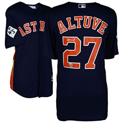 best service 13285 cbd5d Amazon.com: JOSE ALTUVE Houston Astros 2017 World Series ...