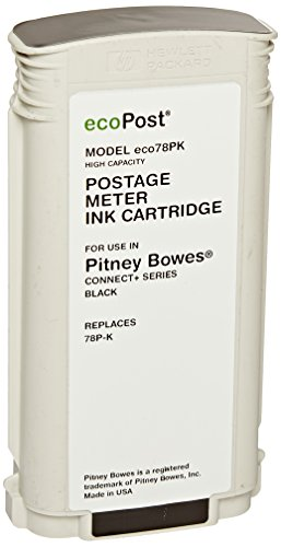 ecoPost ECO78PK High Yield Postage Ink Cartridge Pitney Bowes Connect (Black) by ecoPost