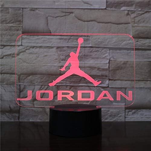 Soportes 3D 7 colores baloncesto Michael Jordan niño niños niños ...
