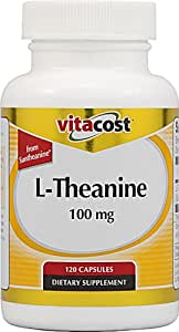 Vitacost L-Theanine from Suntheanine -- 100 mg - 120 Capsules