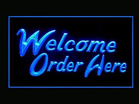 Amazon.com: Para la bienvenida aquí restaurante tienda de ...