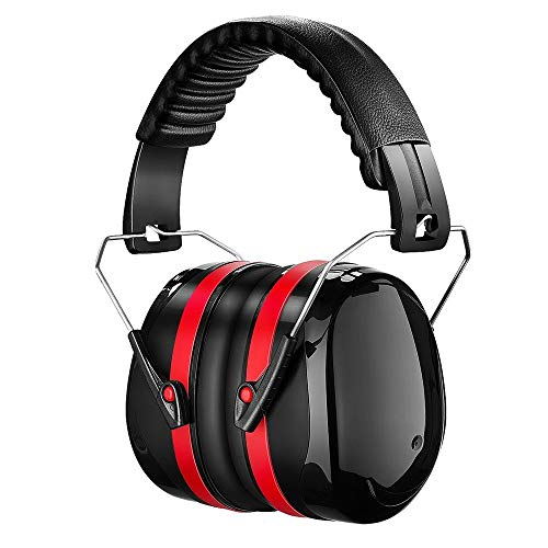 Noise Reduction Safety Ear Muffs Tsumbay SNR 34dB Professional Shooting Hunting Ear Muffs, Hearing Protection Comfortable Adjustable Ear Defenders Earmuffs Fits Adults to Kids, Black(Updated)
