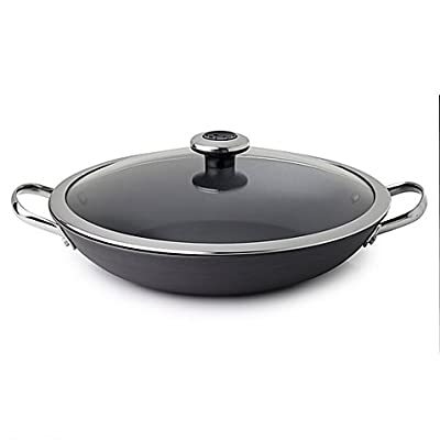 Revere Clean Pan Nonstick 1.9 qt. Anodized Aluminum Braising Pan in Grey with Glass Lid