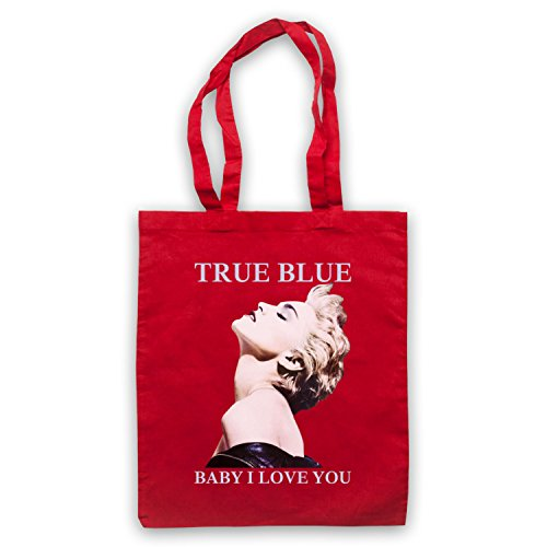 Madonna True Blue Baby I Love You Bolso Rojo