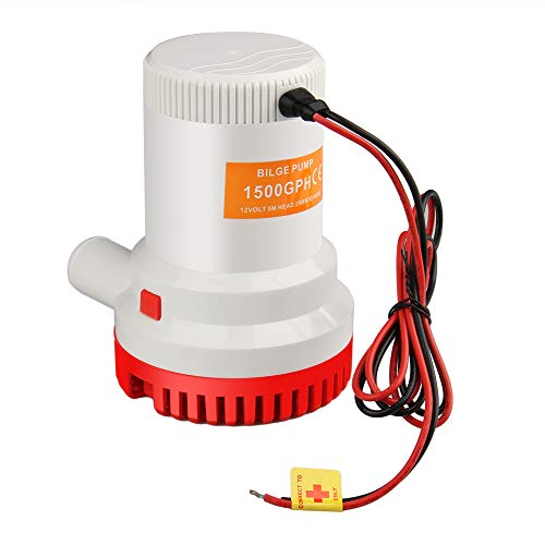 Bang4buck 1500 GPH/3000GPH 12V Boat Electric Bilge Pump 12A for Marine Boat Pools Ponds- Manual Attached - 1-1/8 Outlet (High efficient) by Bang4buck
