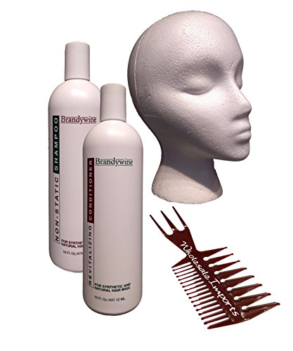 Wholesale Imports Brandywine Wig Care Kit with Shampoo, Conditioner, Comb, and (Wholesale Synthetic Wigs)