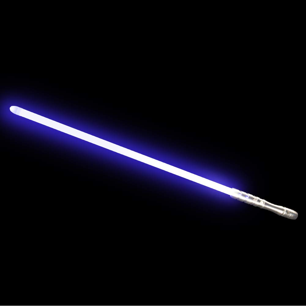 YDD Star Wars LED Light Up Saber Force FX Sword Heavy Dueling, Rechargeable Lightsaber, Loud Sound Hight Light with FOC, Metal Hilt Light Sword (Silver Hilt Blue Blade, Medium) by YDD (Image #1)