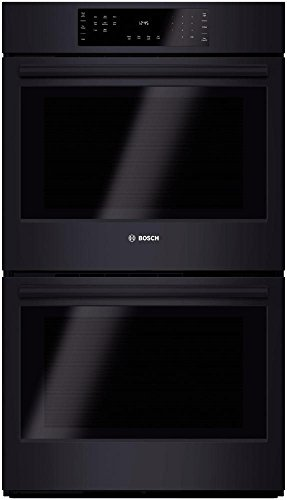 Bosch HBL8661UC 800 30″ Black Electric Double Wall Oven – Convection