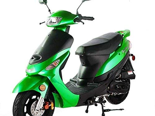 TAO SMART DEALSNOW Brings Brand New 50cc Gas Fully Automatic Street Legal Scooter TaoTao ATM50-A1 with MATCHING TRUNK - EMERALD GREEN (Best Used Scooter Under 1000)