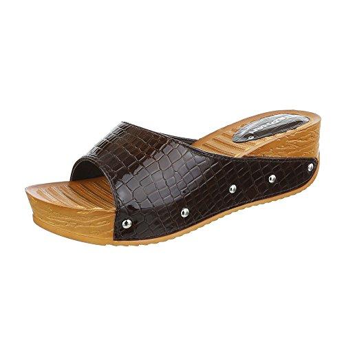 Ital-Design - zapatillas de baile (jazz y contemporáneo) Mujer marrón