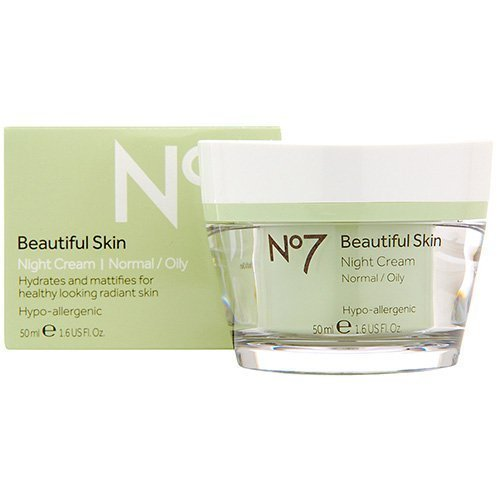 No7 Beautiful Skin Night Cream For Normal / Oily Skin ()