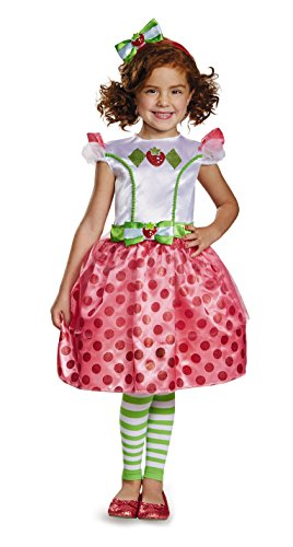 Strawberry Shortcake Halloween Costume (Classic Strawberry Shortcake Iconix Costume, Medium/7-8)