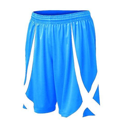 TOPTIE Youth Basketball Shorts, Viscose Knit, No Pockets-LightBlue-M