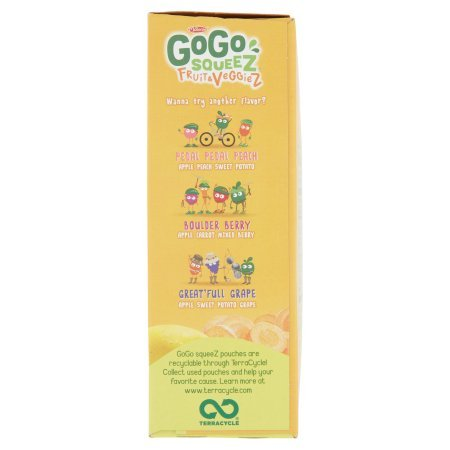 PACK OF 12 - GoGo Squeez Fruit & Veggiez On The Go Apple Pear Carrot - 4 CT by Materne (Image #4)