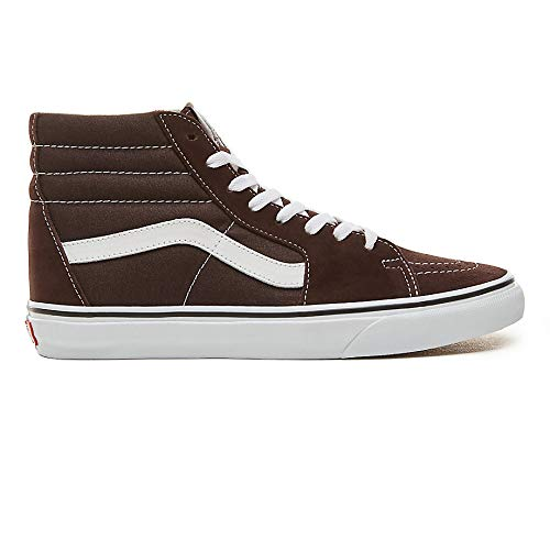 Vans Sk8-Hi Unisex Casual High-Top Skate Shoes (Chocolate Torte/True White, 13)