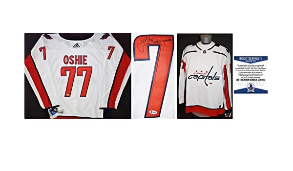 d7e6a2deb T.J. Oshie Signed - Autographed Washington Capitals Authentic Adidas Jersey  with 2018 Stanley Cup Champions TJ Oshie - Witnessed Beckett Certificate of  ...