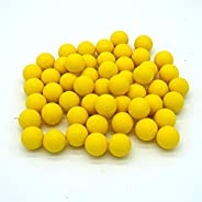 Reusable 0.68 Caliber Riot Paintballs - 100 New Re-Usable Nylon Rubber Training Elastic Balls Paint Balls