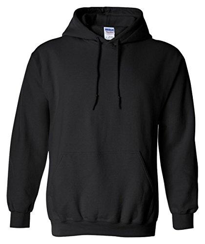Gildan Heavy Blend Adult Hooded Sweatshirt, Blk, Large Blk Hoodie