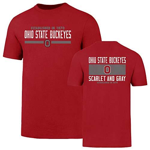NCAA Ohio State Buckeyes Men's OTS Rival Tee, Red, Medium ()