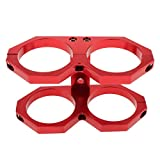 Car Vehicle Parts Dual Fuel Pump Bracket Clamp 5 Colors Available - Red