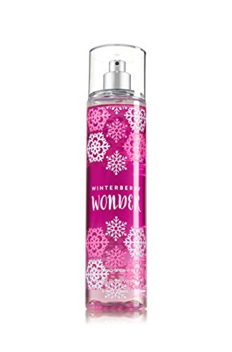 Bath and Body Works Fine Fragrance Mist Winterberry Wonder 2016 Snowflake Bottle 8 Ounce Full Size ()