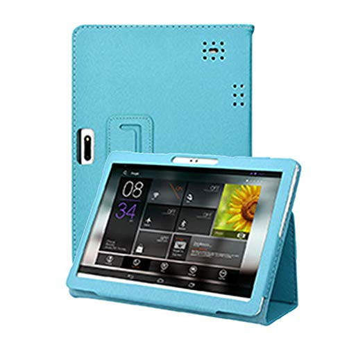 Junshion Universal Folio Leather Stand Cover Case for 10 10.1 Inch Android Tablet PC, Protective Case Cover Computer ()