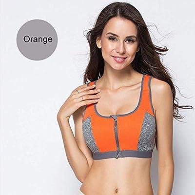 Women Sportswear Zipper Push Up Sports Bra Shockproof Underwear Running Vest Top