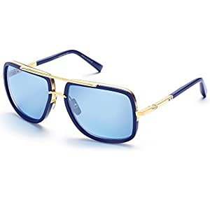 Dita Mach One Sunglasses 59 mm Navy DRX-2030-H-NVY-18K-59