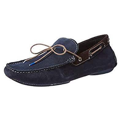 GAS STONE Moccasian Shoes for Men - Navy