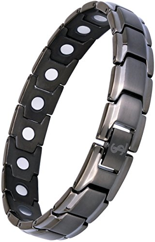 Smarter Lifestyle Elegant Titanium Magnetic Therapy Bracelet Pain Relief...