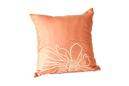 Lotus House Copper Silk Pillowcase - Floral Collection (1, Copper Floral) by Lotus House