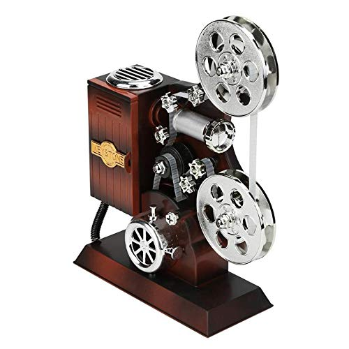 Classic Typewriter Model Music Box Wood Metal Antique Musical Boxes Birthday Wedding Gift Toy Decoration ()