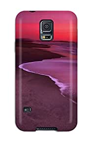 Tpu Phone Case With Fashionable Look For Galaxy S5 - Dunes Beach