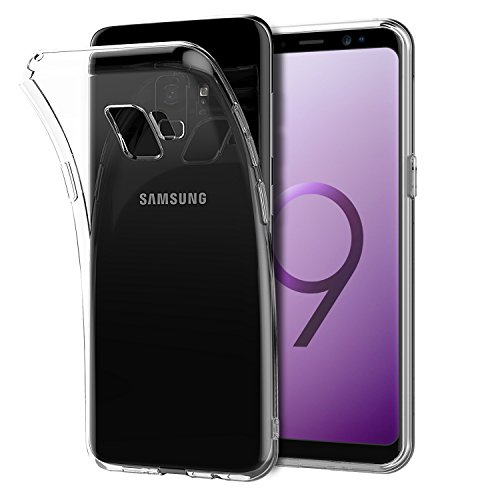 Shamo's for Galaxy S9 Case, S9 Clear Case, [Crystal Clear] Case [Shock Absorption] Cover TPU Rubber Gel [Anti Scratch] Transparent Clear Back Case, Soft Silicone, TPU (Clear)