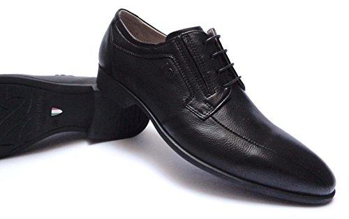 Nero Giardini - Zapatos de cordones de Piel para hombre negro negro 45